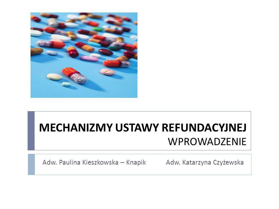 MECHANIZMY USTAWY REFUNDACYJNEJ WPROWADZENIE Adw. Paulina Kieszkowska – Knapik Adw. Katarzyna Czyżewska