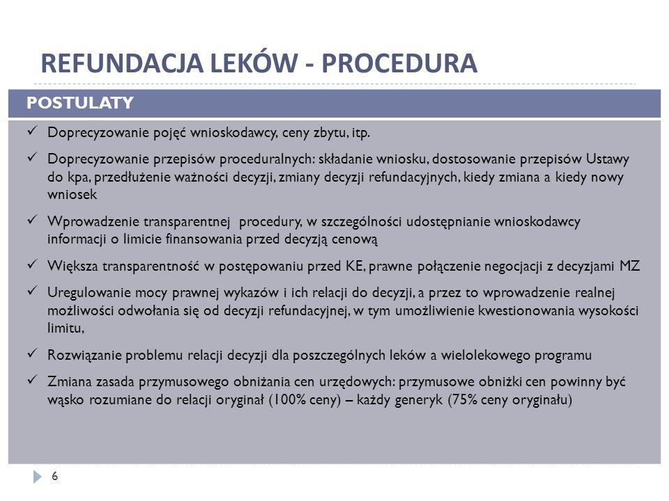 ZAKAZY DOTYCZĄCE PRAKTYK HANDLOWYCH POSTULATY Ograniczenie zakazu do nieuzasadnionych praktyk, tak, by nie wyłączał on normalnych praktyk handlowych Ograniczenie zakazu różnicowania warunków umów do kwestii istotnych Eliminacja sprzeczności Ustawy z Prawem farmaceutycznym i innymi ustawami Przywrócenie dostępu pacjentów do wyrobów medycznych niezbędnych w farmakoterapii 7
