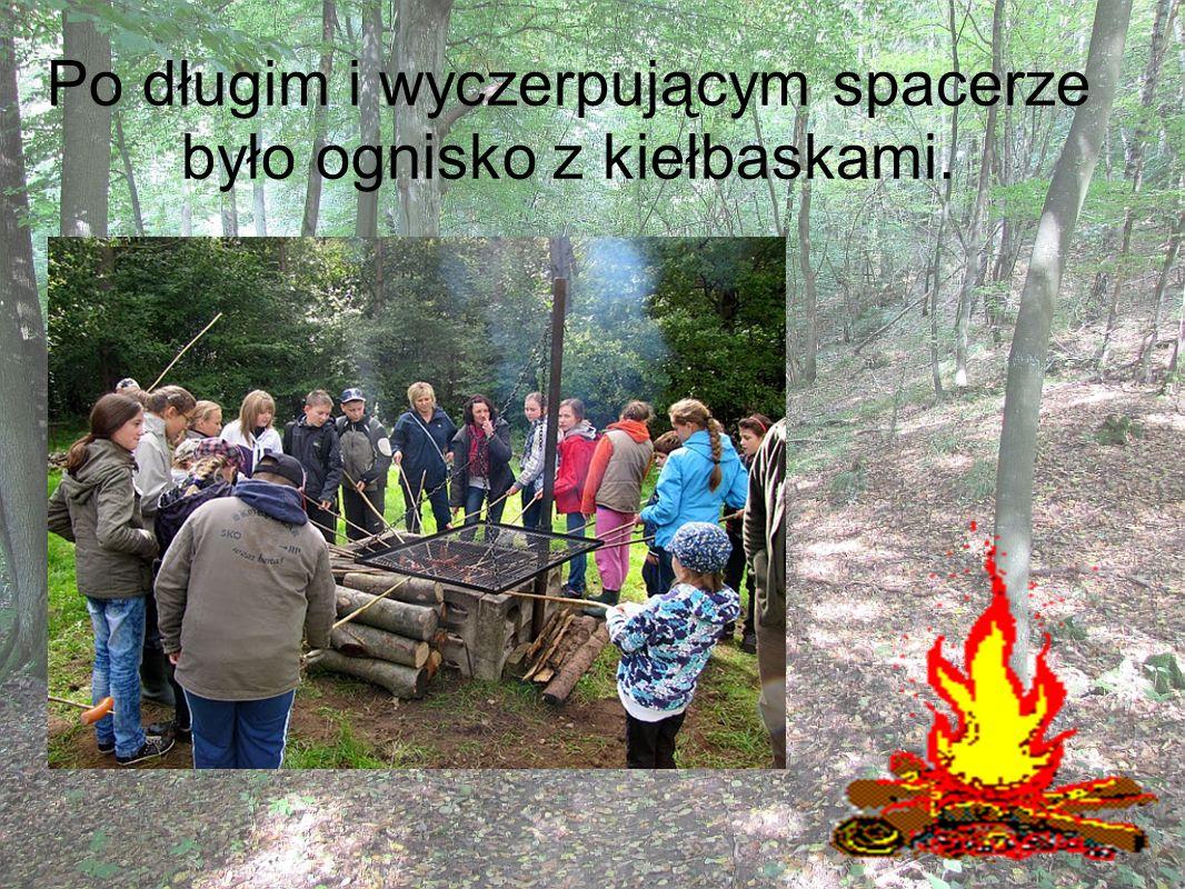 Po długim i wyczerpującym spacerze było ognisko z kiełbaskami.