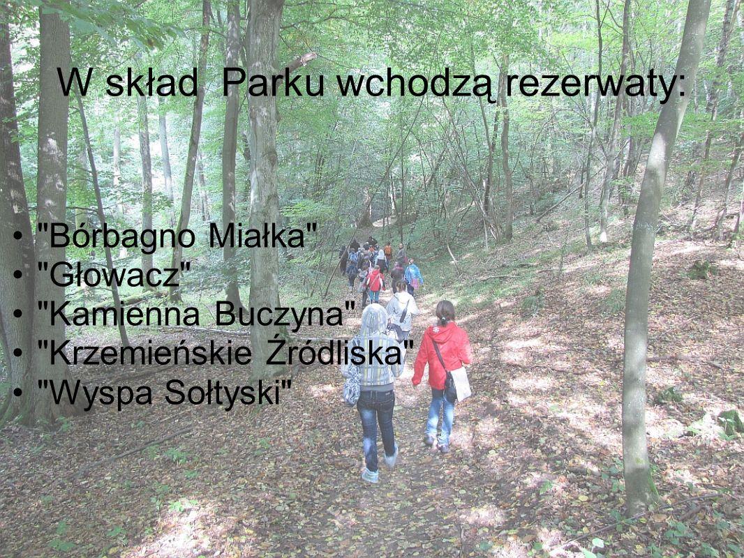 W skład Parku wchodzą rezerwaty: