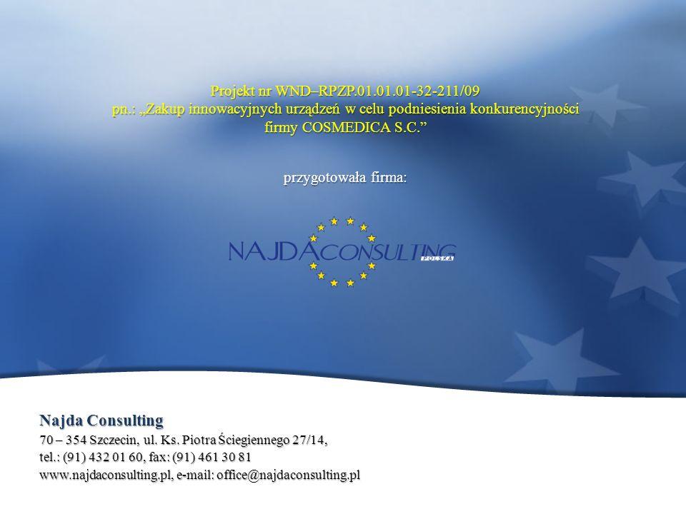 Najda Consulting 70 – 354 Szczecin, ul. Ks. Piotra Ściegiennego 27/14, tel.: (91) 432 01 60, fax: (91) 461 30 81 www.najdaconsulting.pl, e-mail: offic