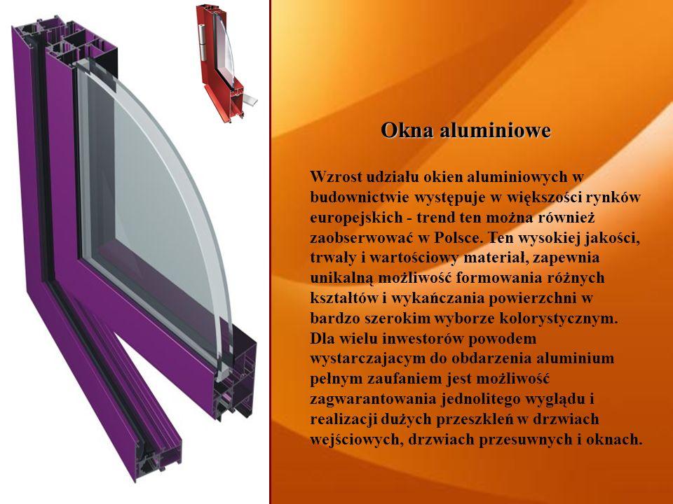Okna aluminiowe Wzrost udziału okien aluminiowych w budownictwie występuje w większości rynków europejskich - trend ten można również zaobserwować w P