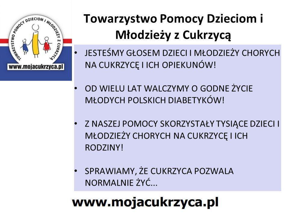 Towarzystwo Pomocy Dzieciom i Młodzieży z Cukrzycą Rok założenia 1996 Od 2004 roku – Organizacja Pożytku Publicznego Obecnie liczy ponad 350 członków z całej Polski Siedziba Gliwice