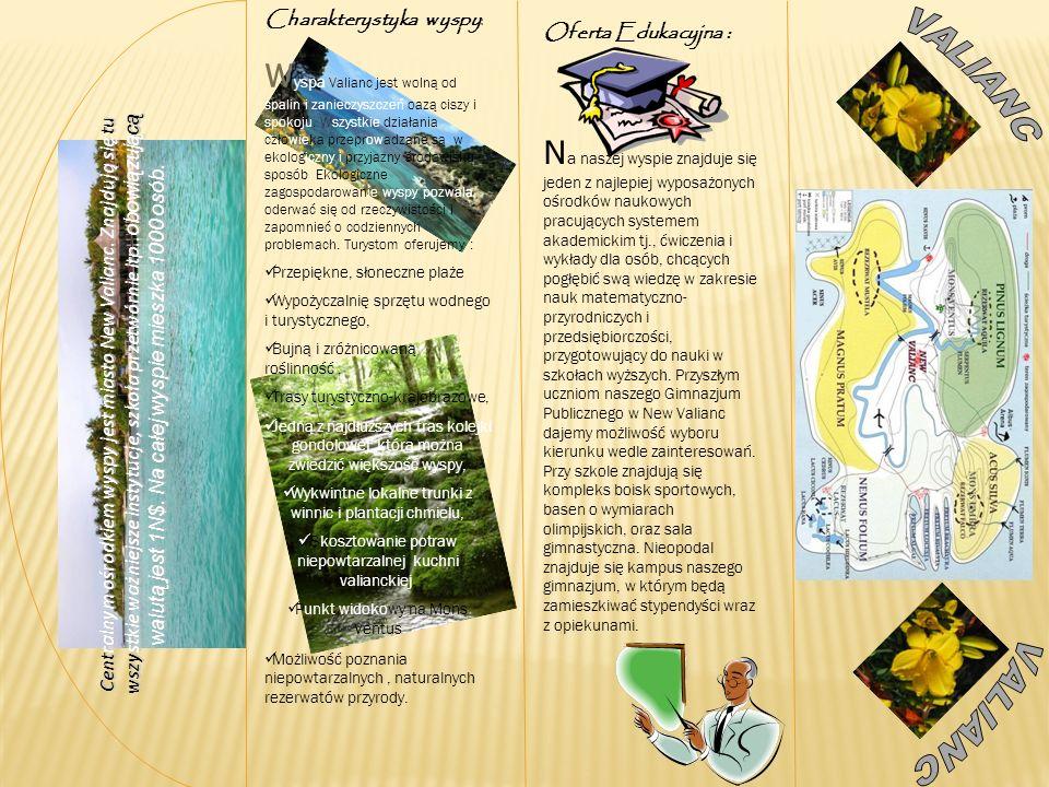 V alianc jest wyspą, na której przede wszystkim stawia się na ekologię.