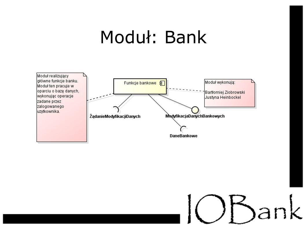 Moduł: Bank