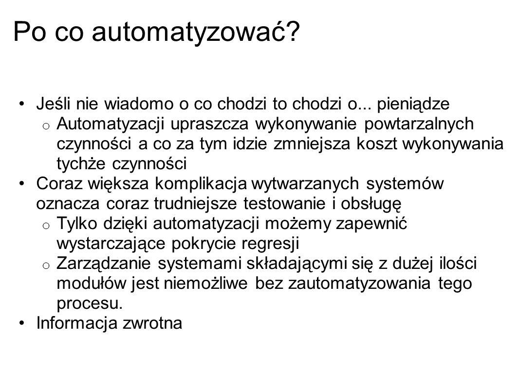 Po co automatyzować? Jeśli nie wiadomo o co chodzi to chodzi o... pieniądze o Automatyzacji upraszcza wykonywanie powtarzalnych czynności a co za tym