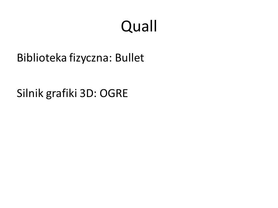 Quall Biblioteka fizyczna: Bullet Silnik grafiki 3D: OGRE
