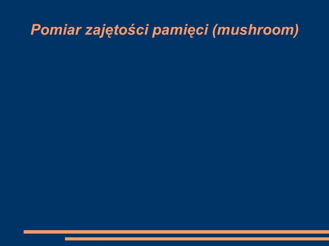 Pomiar zajętości pamięci (mushroom)