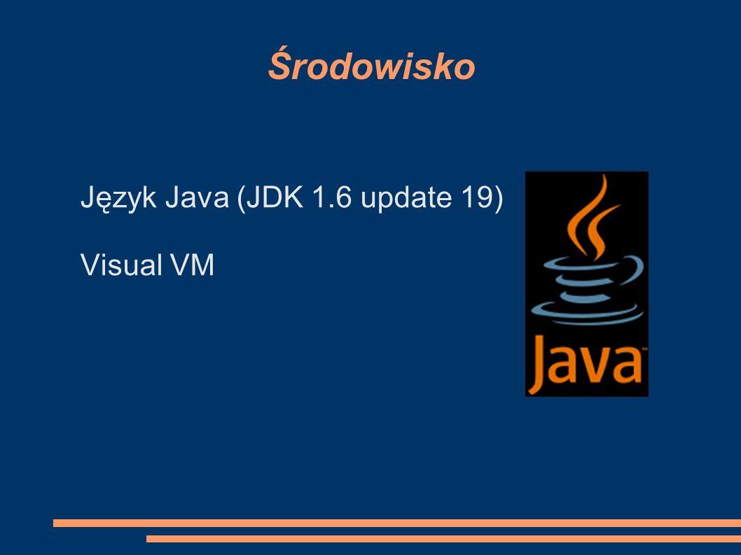 Środowisko Język Java (JDK 1.6 update 19) Visual VM