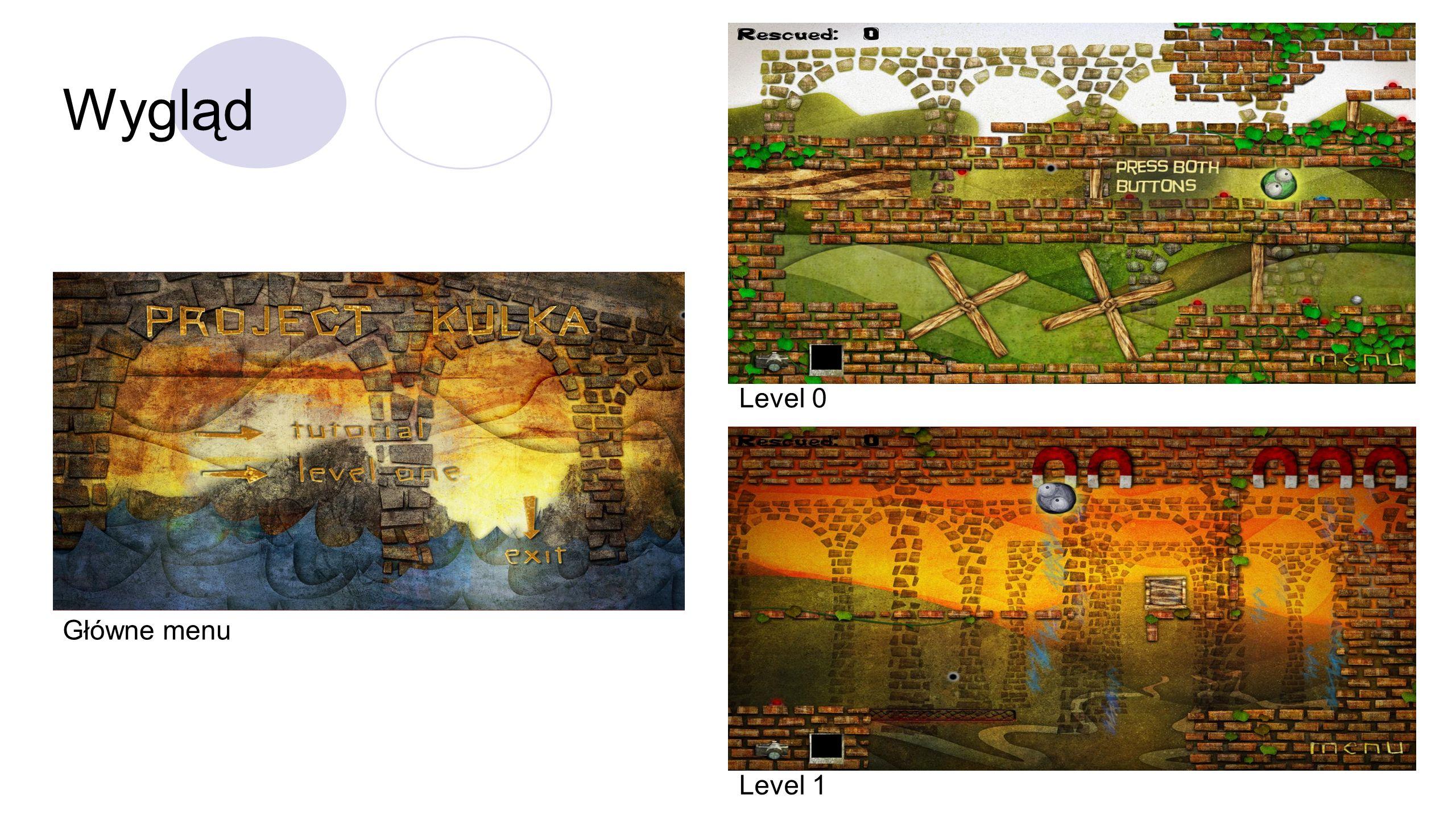Wygląd Główne menu Level 1 Level 0