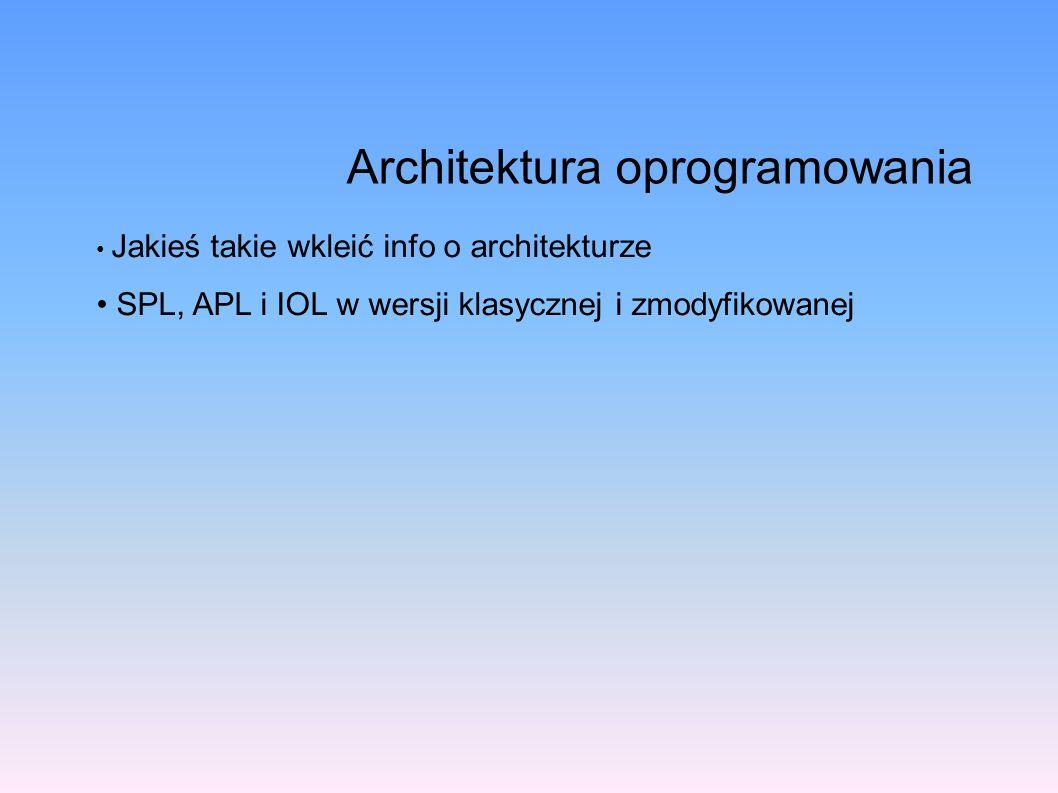Jakieś takie wkleić info o architekturze SPL, APL i IOL w wersji klasycznej i zmodyfikowanej