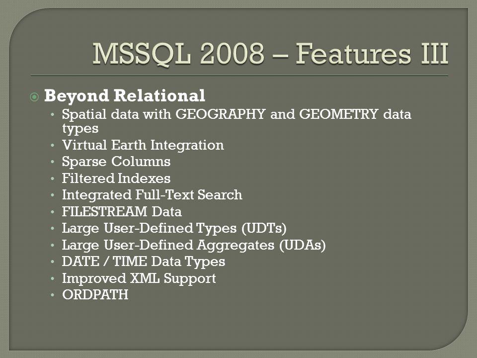 Dlaczego wybrali ś my MS SQL Server 2008.