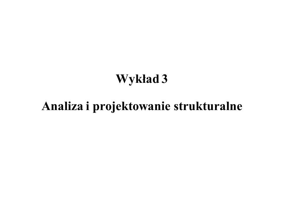 Wykład 3 Analiza i projektowanie strukturalne