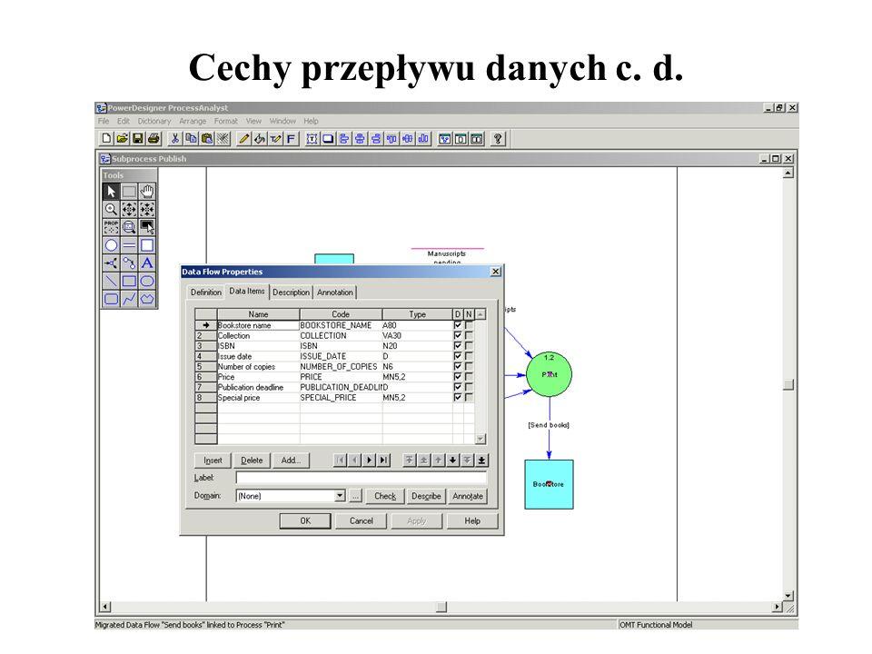 Cechy przepływu danych c. d.