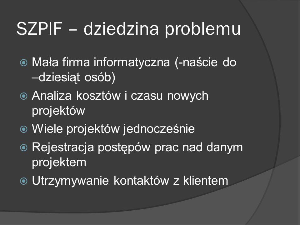 SZPIF – Rozliczanie Pracowników Tworzenie i akceptacja rozliczeń tygodniowych.