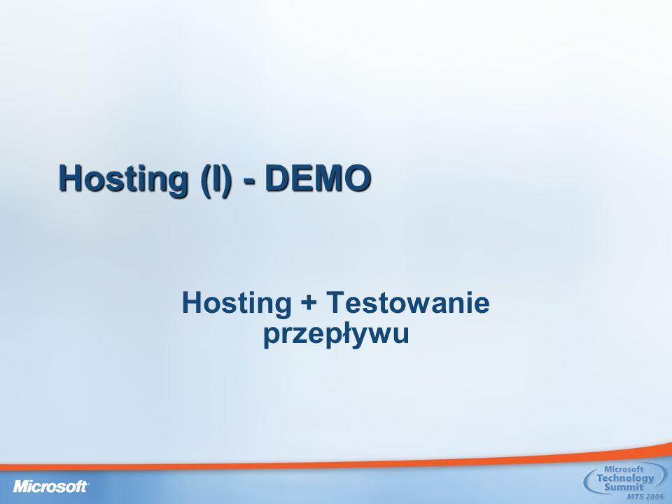 Hosting (I) - DEMO Hosting + Testowanie przepływu