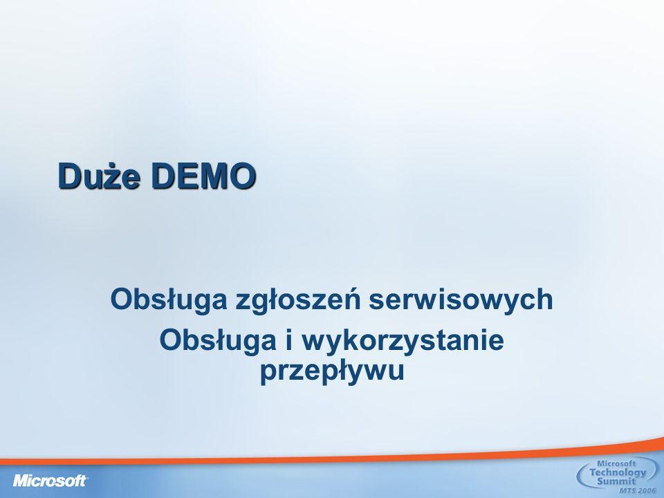 Duże DEMO Obsługa zgłoszeń serwisowych Obsługa i wykorzystanie przepływu