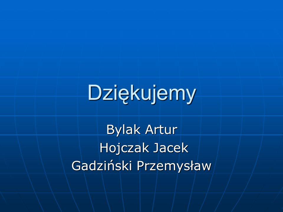 Dziękujemy Bylak Artur Hojczak Jacek Hojczak Jacek Gadziński Przemysław