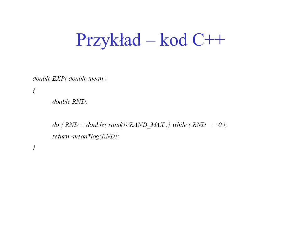 Przykład – kod C++