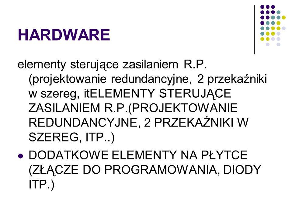 HARDWARE elementy sterujące zasilaniem R.P. (projektowanie redundancyjne, 2 przekaźniki w szereg, itELEMENTY STERUJĄCE ZASILANIEM R.P.(PROJEKTOWANIE R