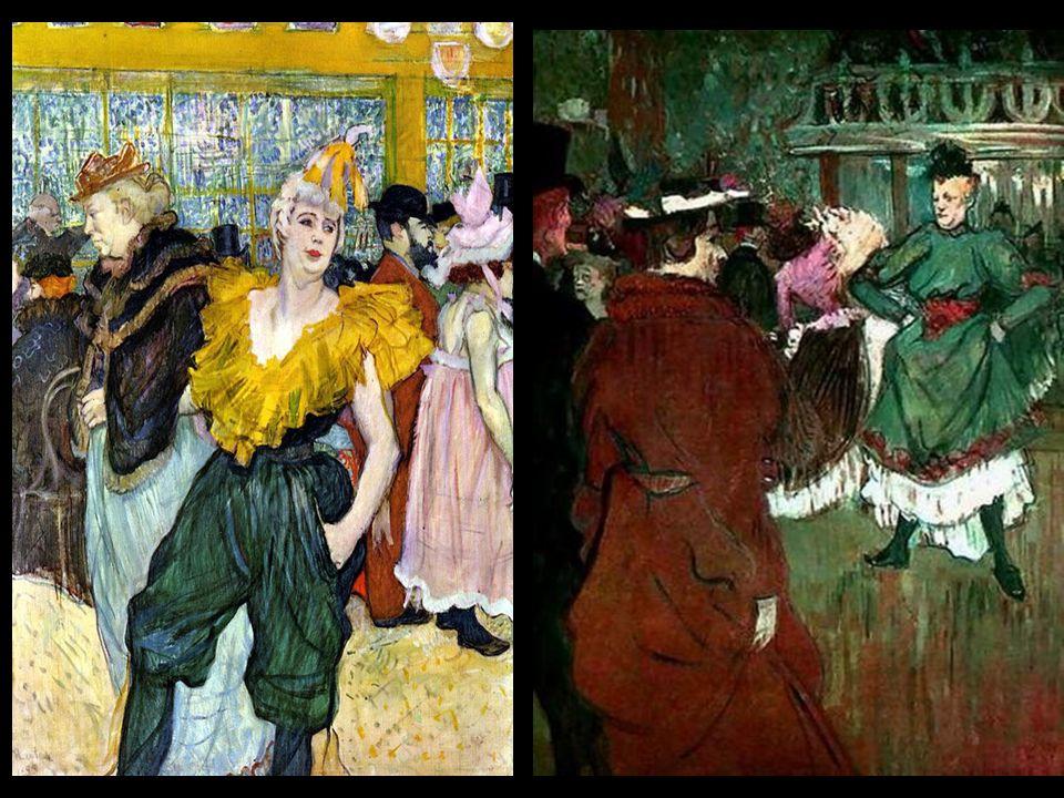 Często umieszczał w swoich pracach dwoje spośród znajomych – śpiewaczkę Yvette Guilbert i Louise Weber – tancerkę i twórczynię francuskiego kankana.