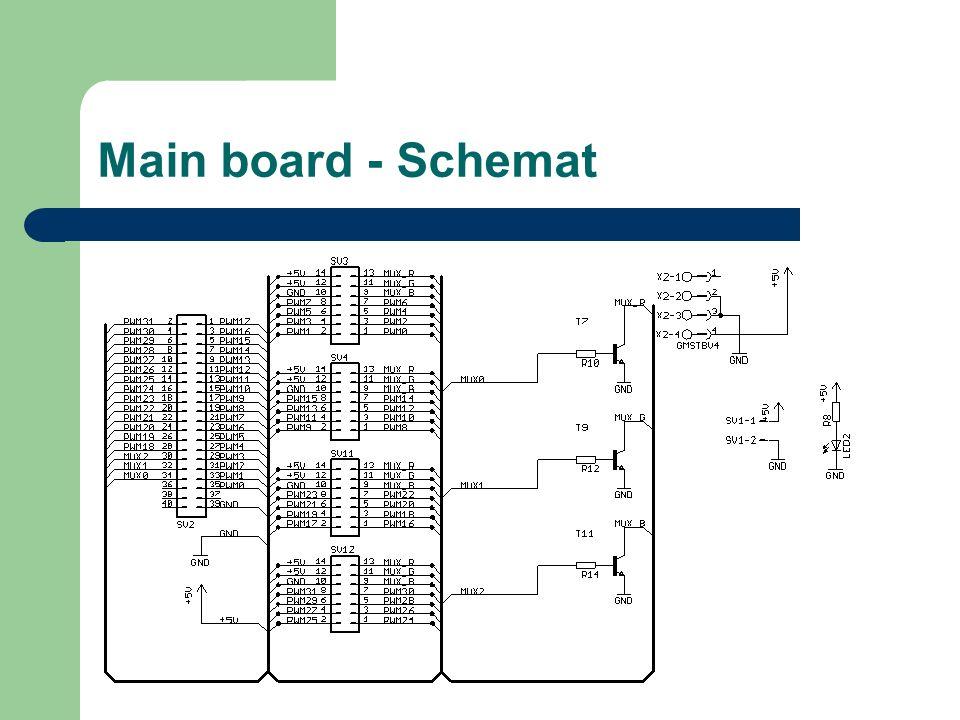 Main board - Schemat