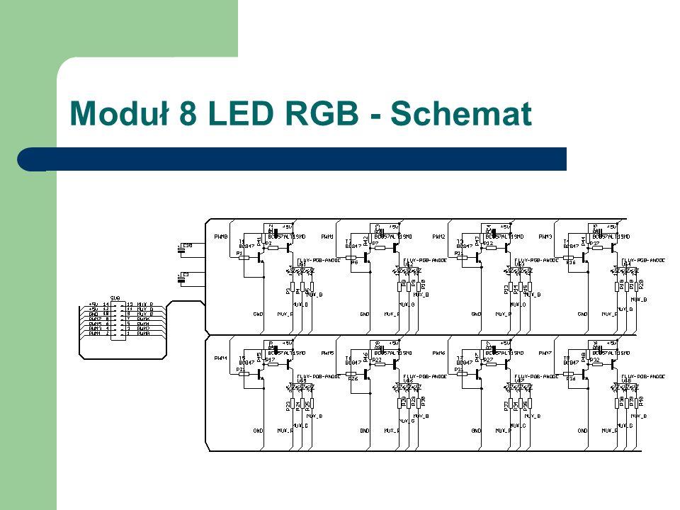 Moduł 8 LED RGB - Schemat