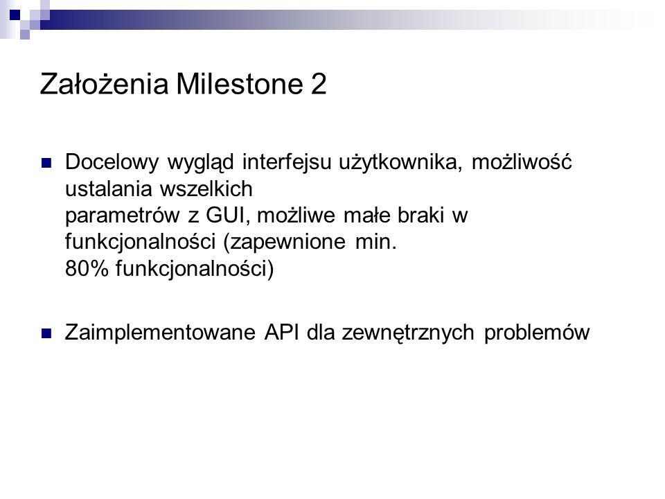 Założenia Milestone 2 Implementacja algorytmów wielobitowych (krzyżowanie, mutacje, geny recesywne Zaawansowane algorytmy selekcji (mieszanie chromosomów, uciekanie z minimów lokalnych)