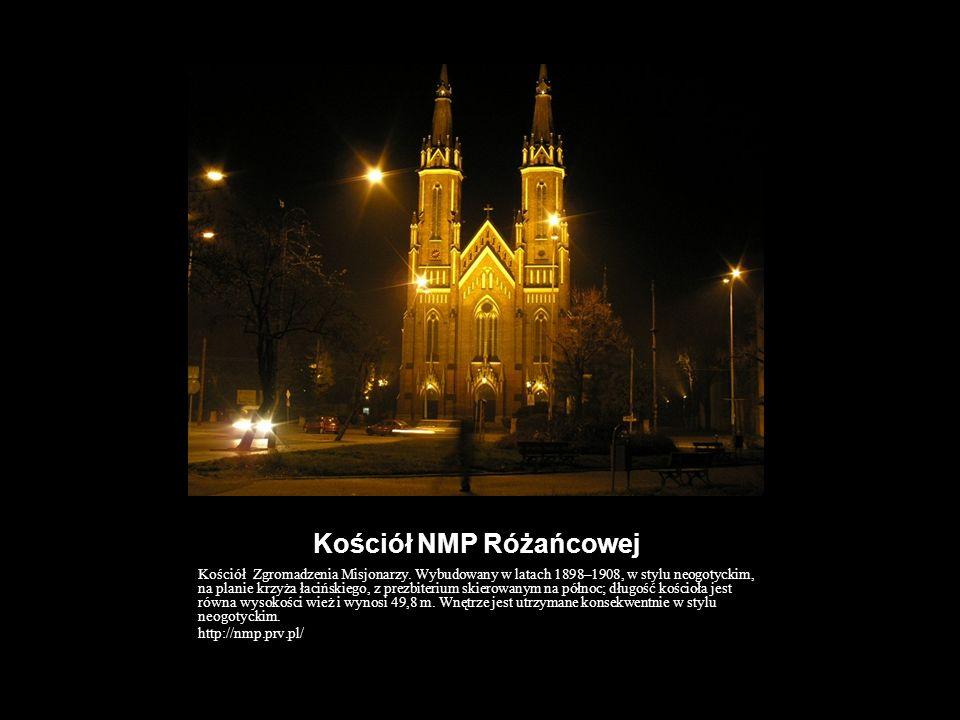 Kościół NMP Różańcowej Kościół Zgromadzenia Misjonarzy. Wybudowany w latach 1898–1908, w stylu neogotyckim, na planie krzyża łacińskiego, z prezbiteri