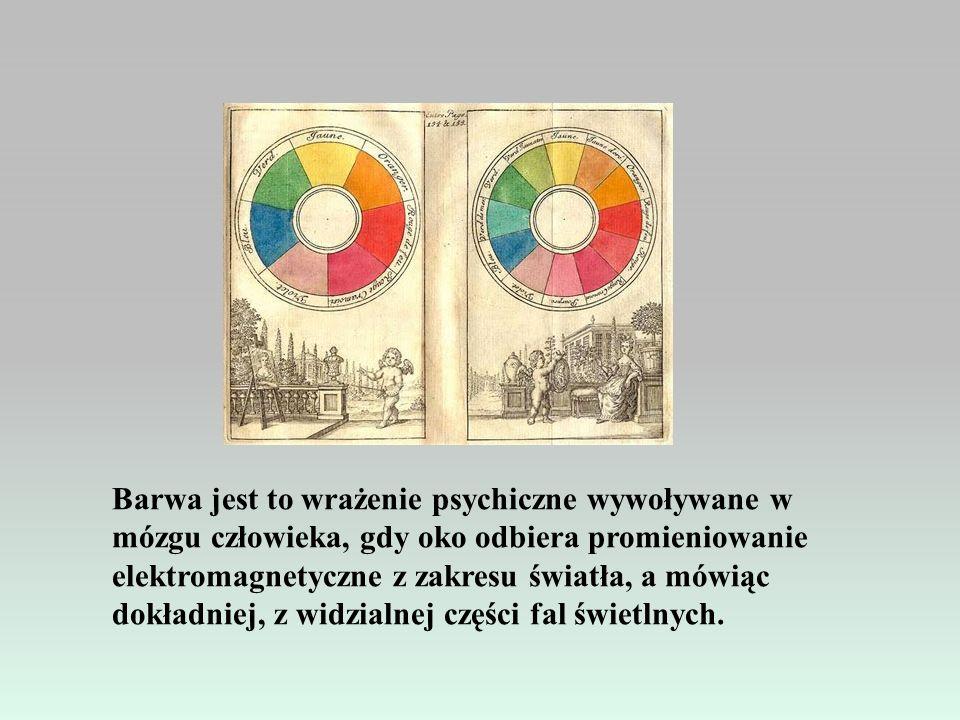 Barwa jest to wrażenie psychiczne wywoływane w mózgu człowieka, gdy oko odbiera promieniowanie elektromagnetyczne z zakresu światła, a mówiąc dokładniej, z widzialnej części fal świetlnych.