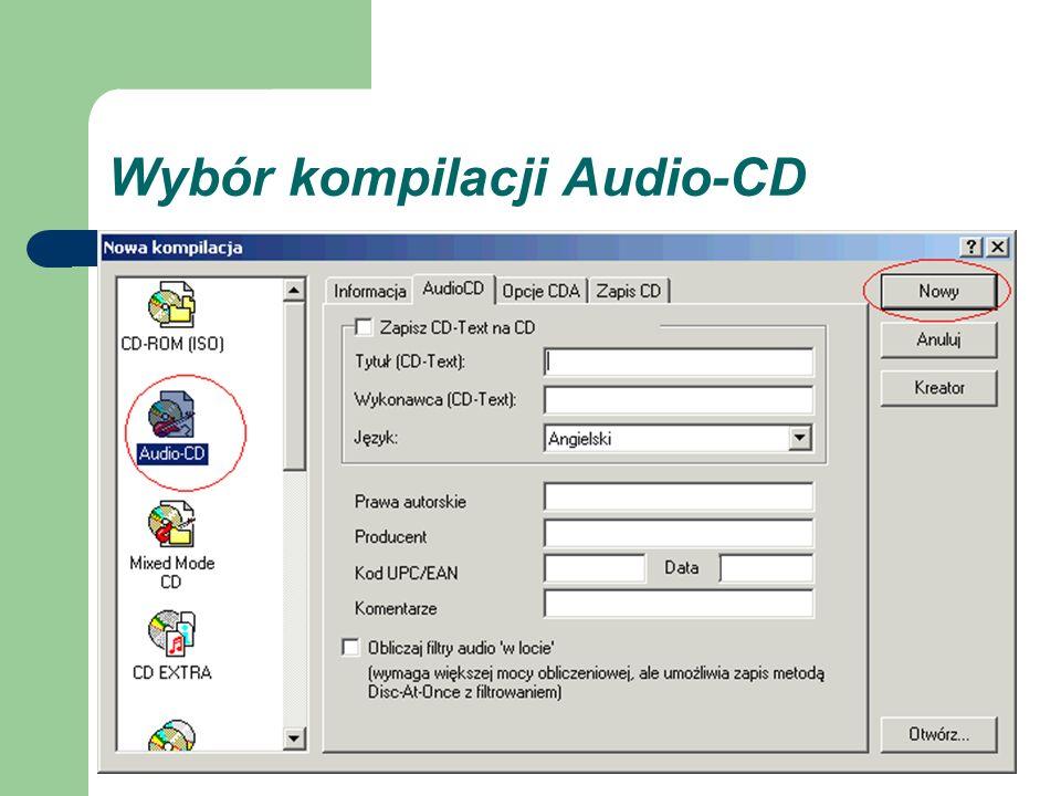 Wybór kompilacji Audio-CD