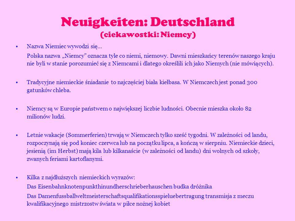 Nazwa Niemiec wywodzi się... Polska nazwa Niemcy oznacza tyle co niemi, niemowy. Dawni mieszkańcy terenów naszego kraju nie byli w stanie porozumieć s