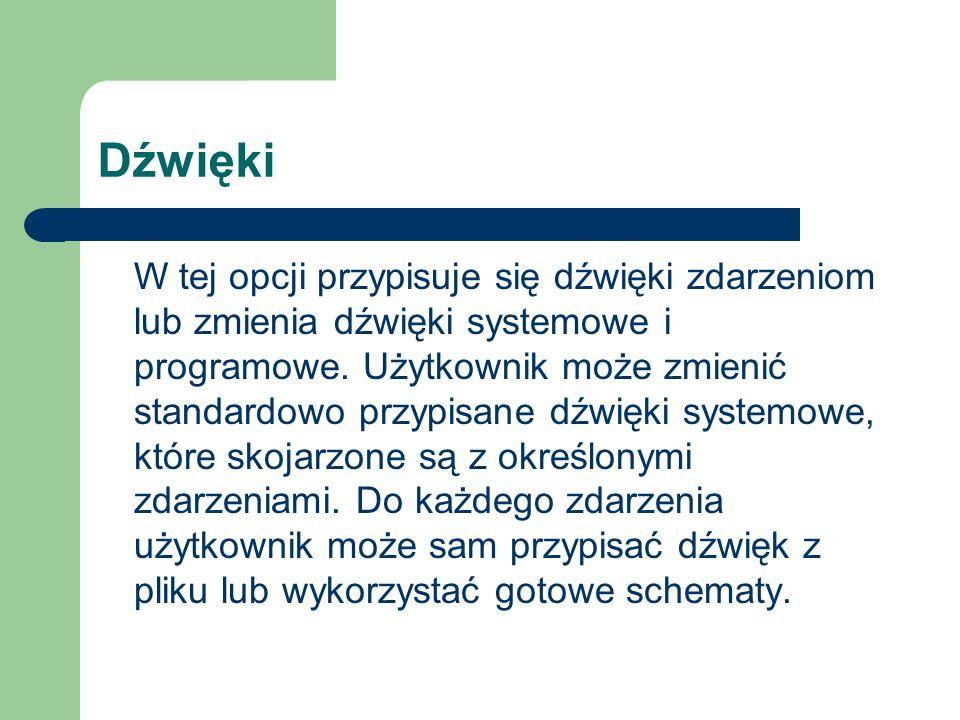 Klawiatura oraz Opcje regionalne i językowe* Użytkownik ma możliwość ustalenia układu języka klawiatury (ustalenie powinno być następujące: polski (programisty)).