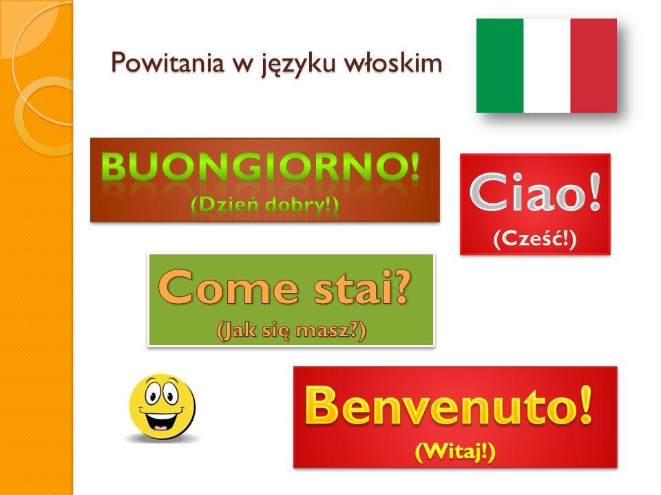Powitania w języku włoskim