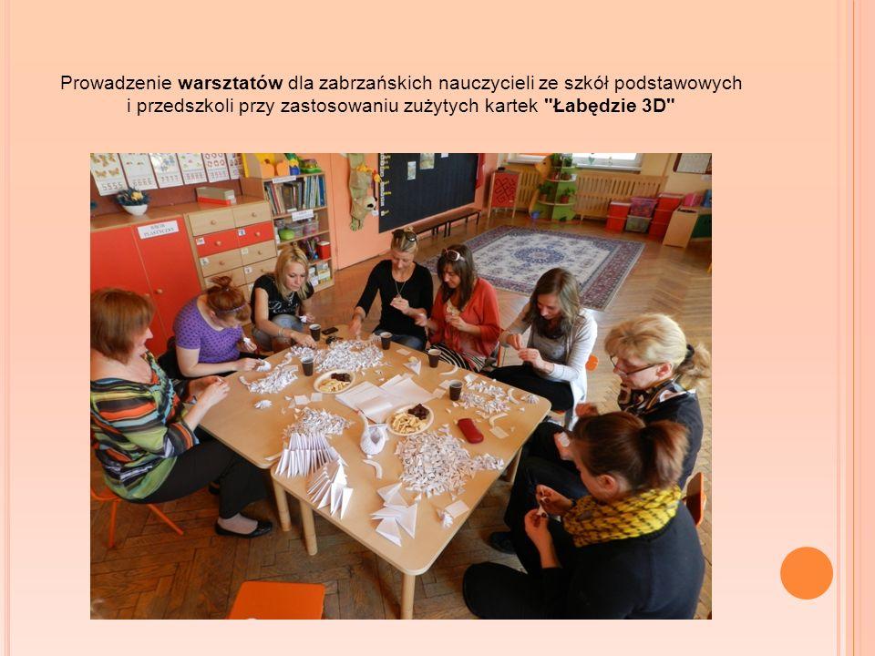Prowadzenie warsztatów dla zabrzańskich nauczycieli ze szkół podstawowych i przedszkoli przy zastosowaniu zużytych kartek