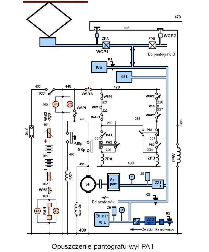Opuszczenie pantografu-wył PA1