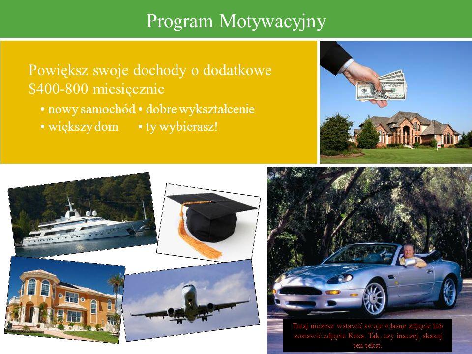 Program Motywacyjny Powiększ swoje dochody o dodatkowe $400-800 miesięcznie nowy samochód dobre wykształcenie większy dom ty wybierasz! Tutaj możesz w