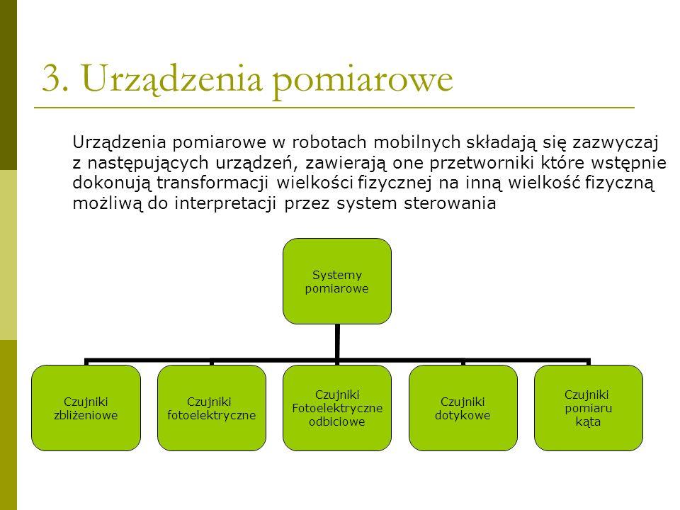 3. Urządzenia pomiarowe Systemy pomiarowe Czujniki zbliżeniowe Czujniki fotoelektryczne Czujniki Fotoelektryczne odbiciowe Czujniki dotykowe Czujniki