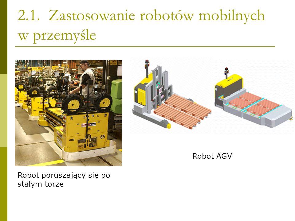 2.1. Zastosowanie robotów mobilnych w przemyśle Robot poruszający się po stałym torze Robot AGV