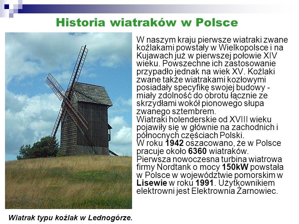 Historia energetyki wiatrowej - Europa Pierwsze wiatraki europejskie pojawiły się we Francji na początku XII wieku, a od wieku XIII upowszechniły się w Europie.