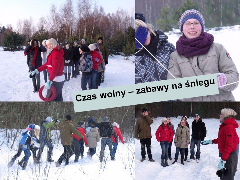 Czas wolny – zabawy na śniegu