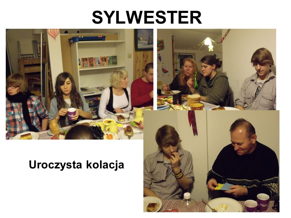 SYLWESTER Uroczysta kolacja