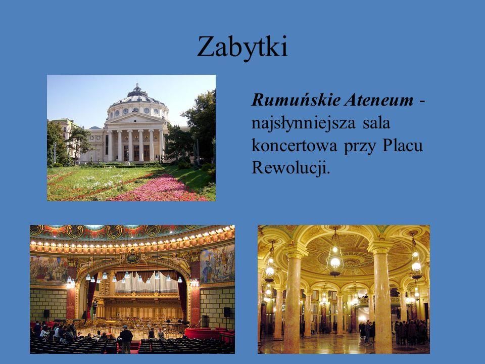 Zabytki Rumuńskie Ateneum - najsłynniejsza sala koncertowa przy Placu Rewolucji.