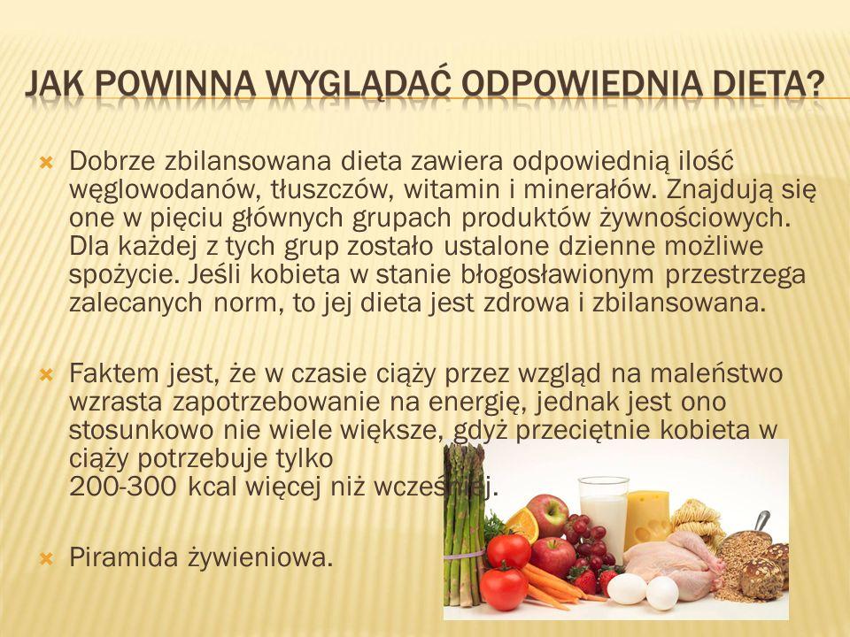 Dobrze zbilansowana dieta zawiera odpowiednią ilość węglowodanów, tłuszczów, witamin i minerałów. Znajdują się one w pięciu głównych grupach produktów