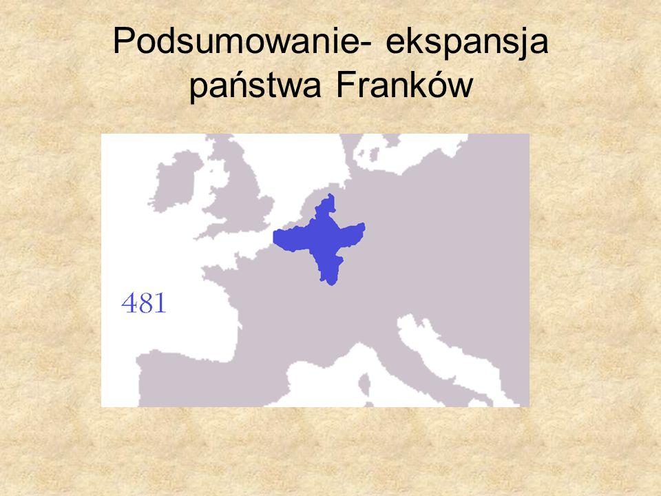 Podsumowanie- ekspansja państwa Franków
