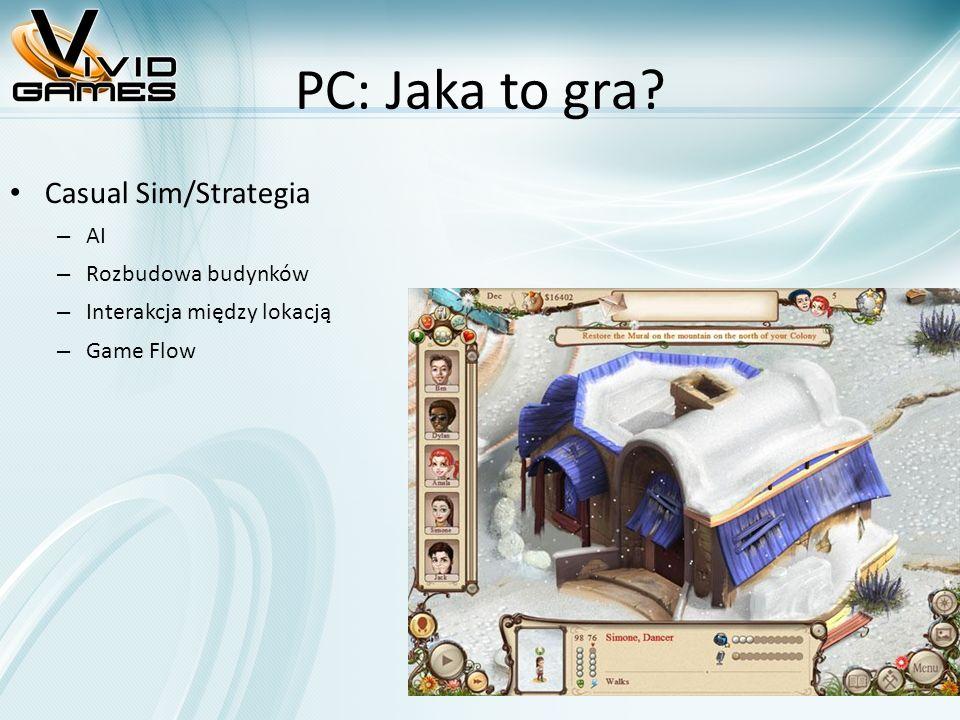 PC: Jaka to gra? Casual Sim/Strategia – AI – Rozbudowa budynków – Interakcja między lokacją – Game Flow