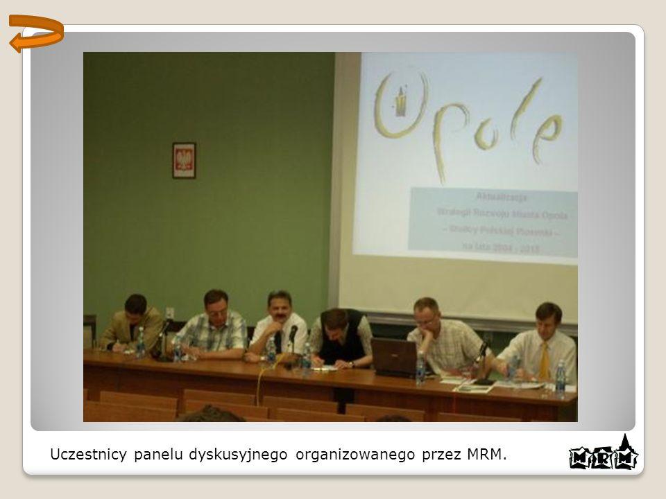 Uczestnicy panelu dyskusyjnego organizowanego przez MRM.
