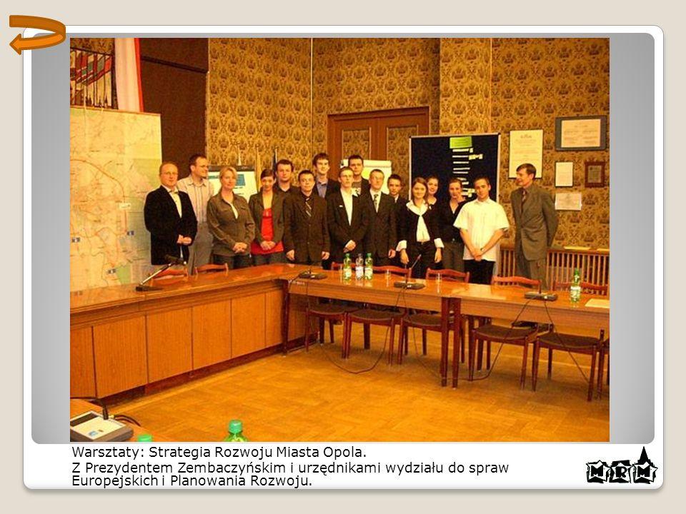 Warsztaty: Strategia Rozwoju Miasta Opola. Z Prezydentem Zembaczyńskim i urzędnikami wydziału do spraw Europejskich i Planowania Rozwoju.
