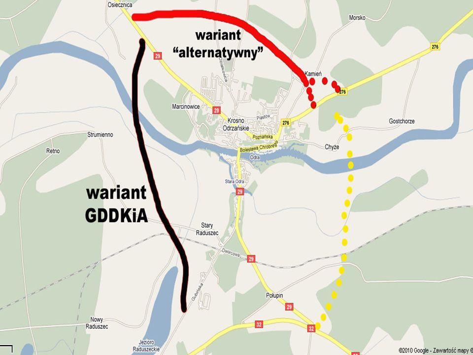 Wariant alternatywny zaproponowany przez radnego Adama Przybysza (Klub Radnych Marek Cebula i PO RP) na Sesji Rady Miejskiej 12.03.2010