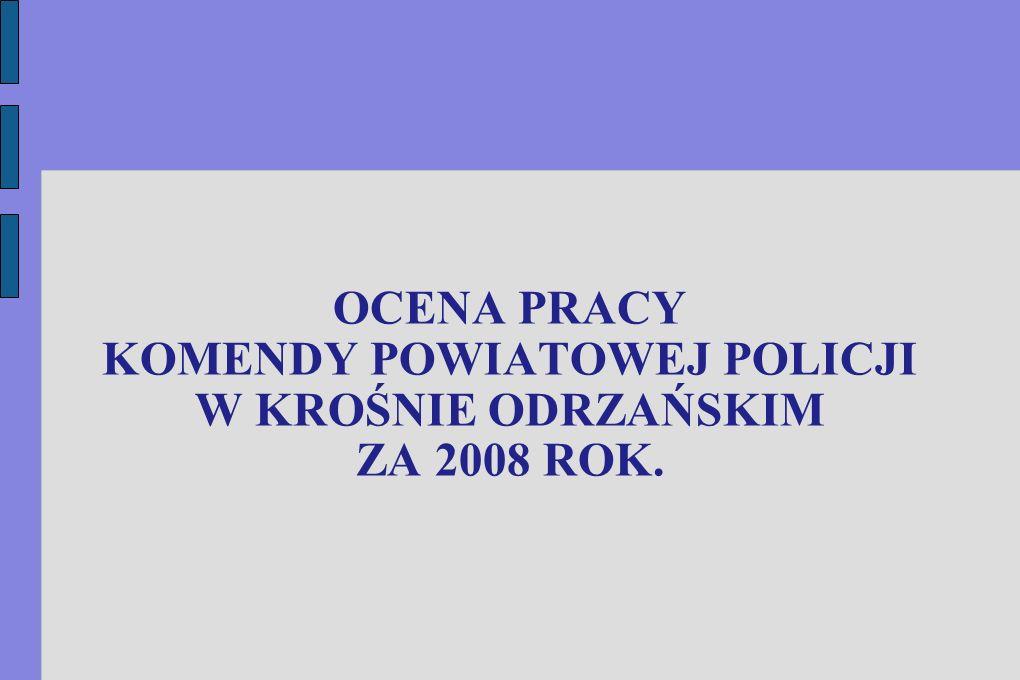 STRUKTURA PRZESTĘPSTW W KOMENDZIE POWIATOWEJ POLICJI W KROŚNIE ODRZAŃSKIM, W 2008 ROKU.